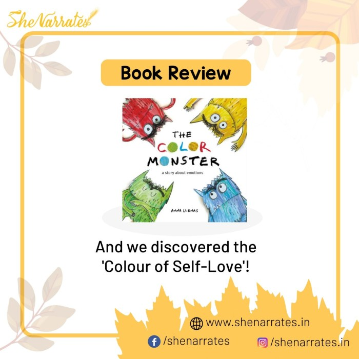 Autumn reads for children and Book review of The Color Monster by Anna Llenas