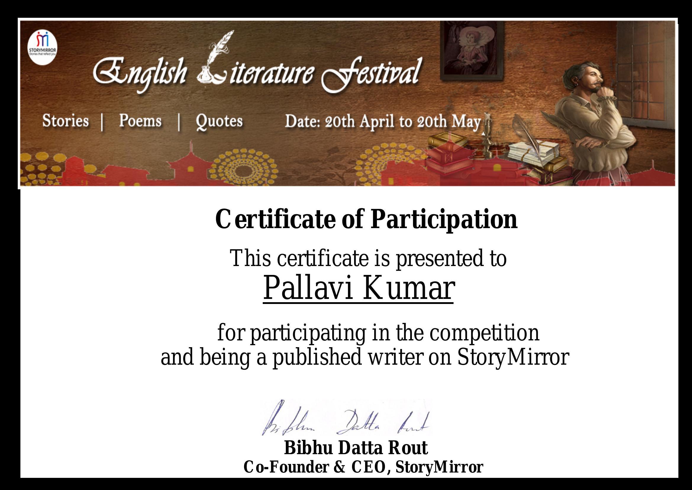 English Literature Festival