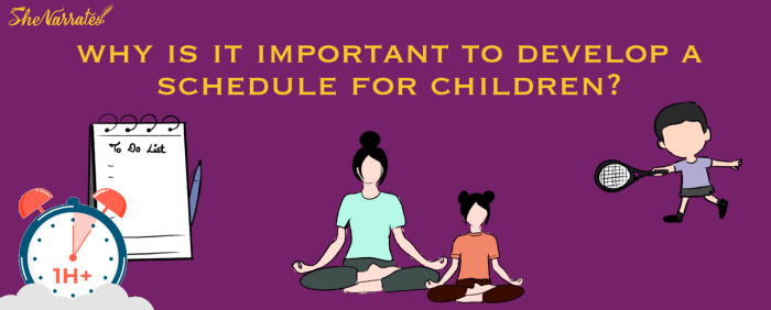 Why is it Important to Develop a Schedule for kids?