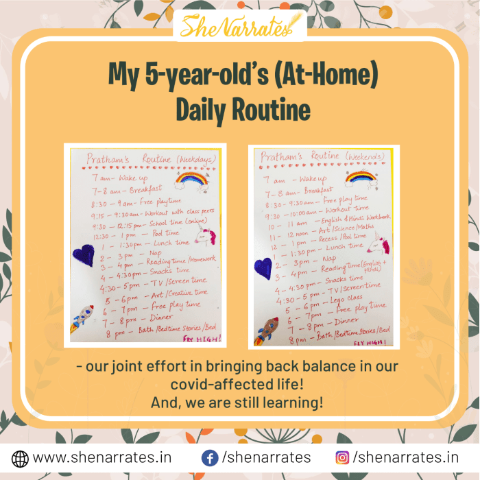 Here's my son, Pratham's Daily Routine in covid- affected life