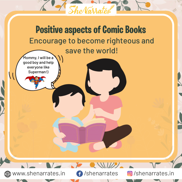 Benefits of reading comic books to children can be life-altering. It can encourage children to become righteous as a Superman and save the world.