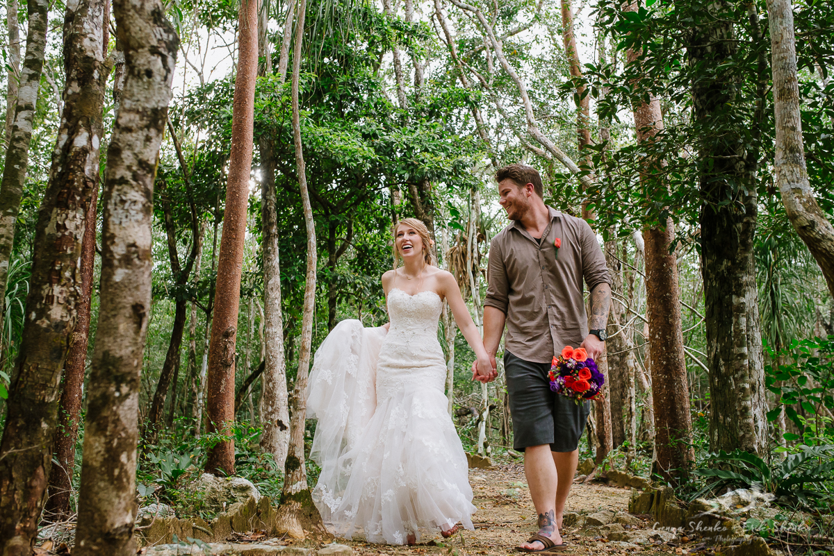 Off Resort Wedding In Tulum Cenote Wedding Photographers