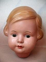 Celluloid Doll Head Finished