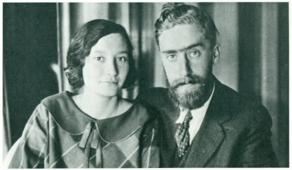 Maurits and Jetta. The Newly Married Couple in Leiden. 28 August 1924