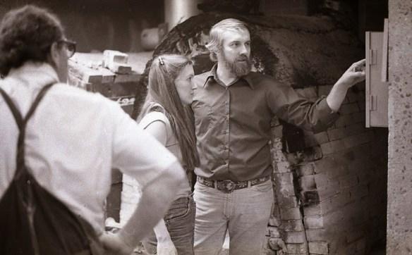March 1977 Larry Weaver in Ceramics Studio (Photo Credit: Robert Waldren)