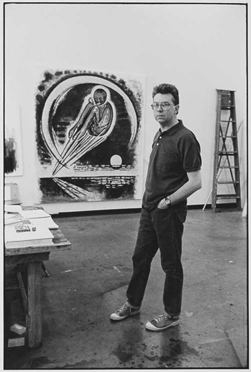 Arnaud Maggs, John Clark in his studio, 1988. From the University of Lethbridge Art Collection. Gift of the artist, 1989.