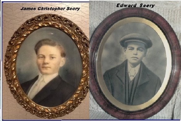 BHC Edward Seery 2  His brother James Christopher Seery came in 1898