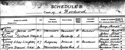 Marion Ada born 1872 No idea Death
