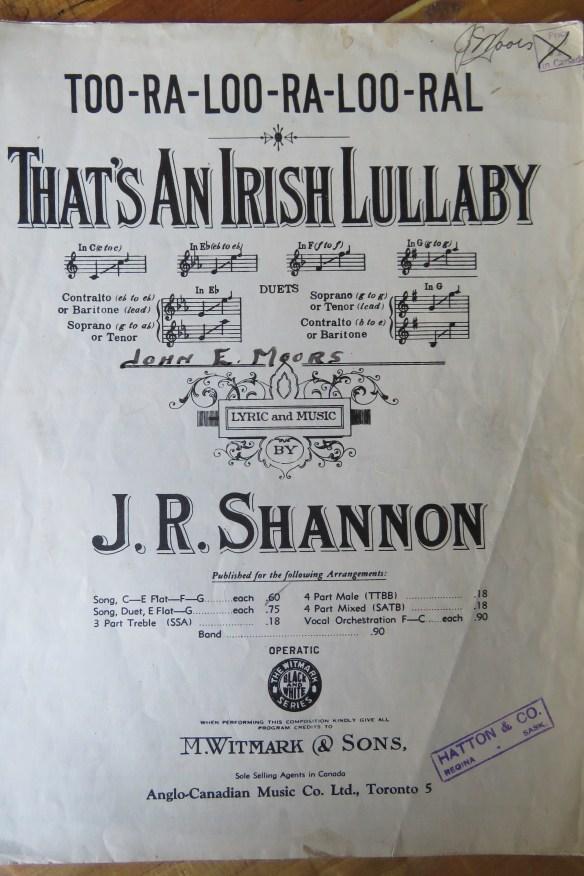 Kath's Canon October 25, 2015 Irish Lullaby 001