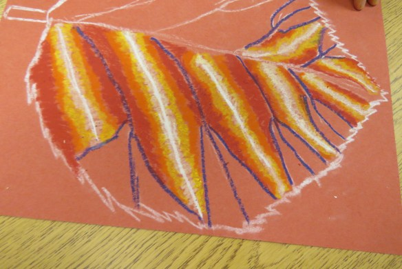 Kath's Canon October 9, 2015 Contoured Leaves Elementary Art 002