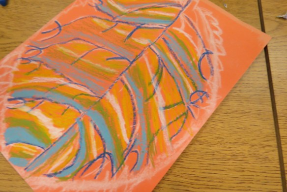 Kath's Canon October 9, 2015 Contoured Leaves Elementary Art 013