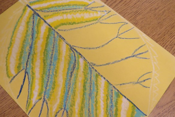Kath's Canon October 9, 2015 Contoured Leaves Elementary Art 015