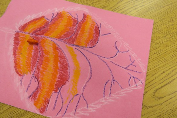 Kath's Canon October 9, 2015 Contoured Leaves Elementary Art 016