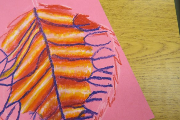 Kath's Canon October 9, 2015 Contoured Leaves Elementary Art 019