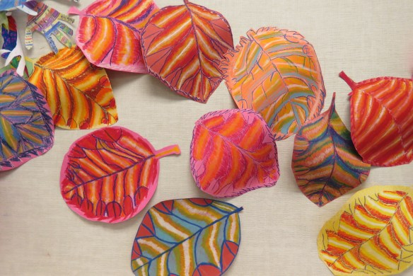 Kath's Canon October 9, 2015 Contoured Leaves Elementary Art 030