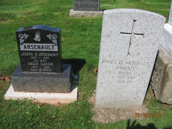 James D. Arsenault first husband of Peggy Powers Henry's tree