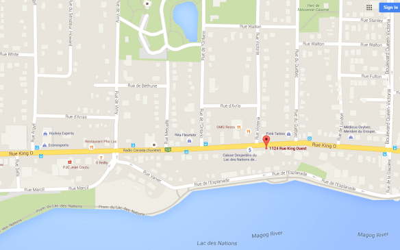 1124 Rue King Ouest, Sherbrooke Map
