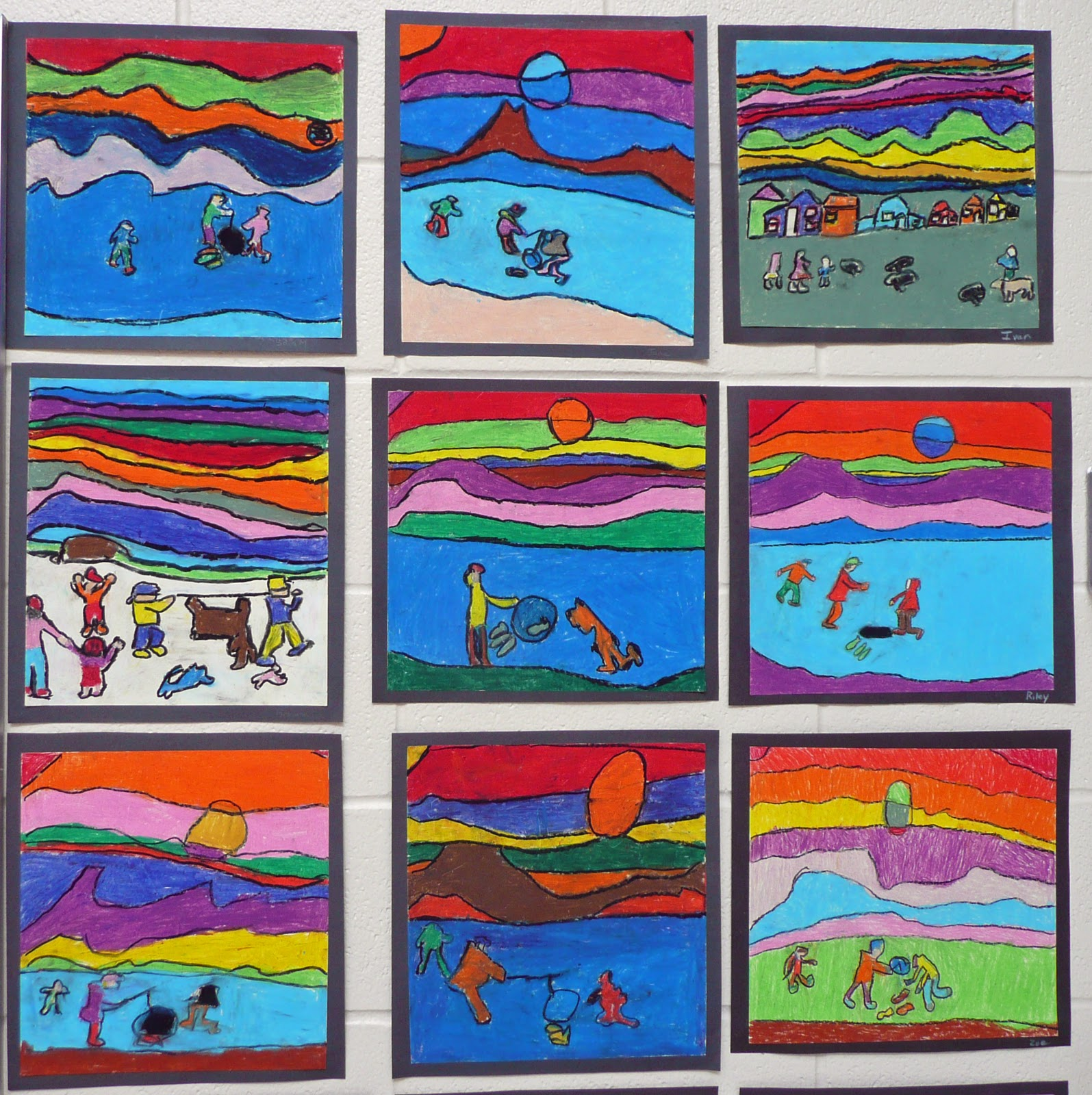 Grade Four S Homage To Ted Harrison