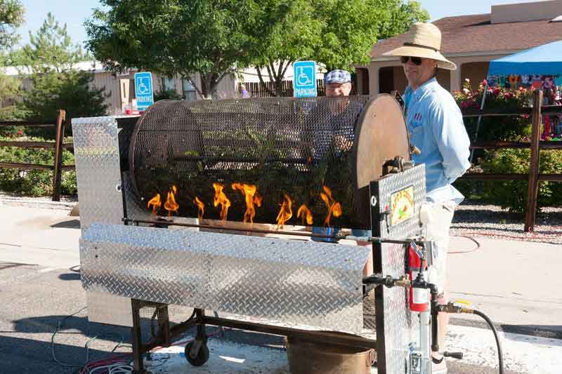 Roasting Chile at the Chile Festival