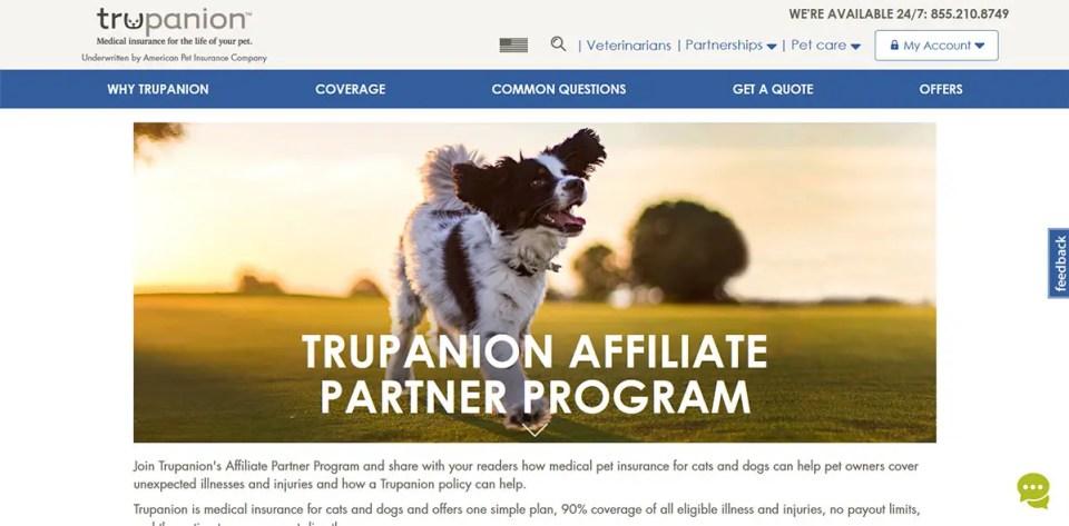 Trupanion Partner Dog Affiliate Program