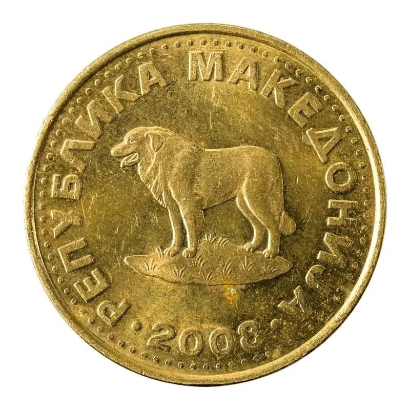 1 Denar Coin Back