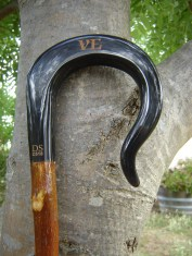 Buffalo horn crook et onto Olive shank now in the USA