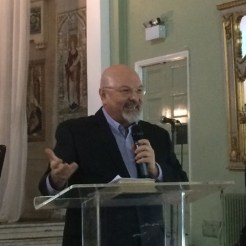 Ron speaking at a London Church