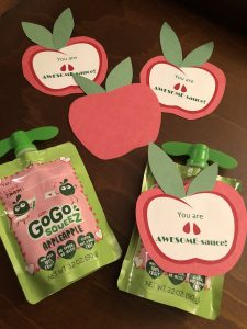 Toddler Money Diary Valentine's Day Applesauce Pouch Tags
