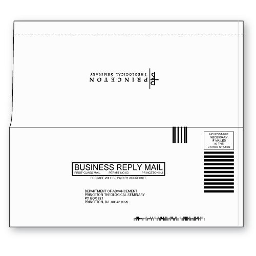 Perfect Bound 9 Business Reply Envelope Custom Printed