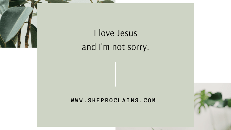 I love Jesus and I'm not sorry.