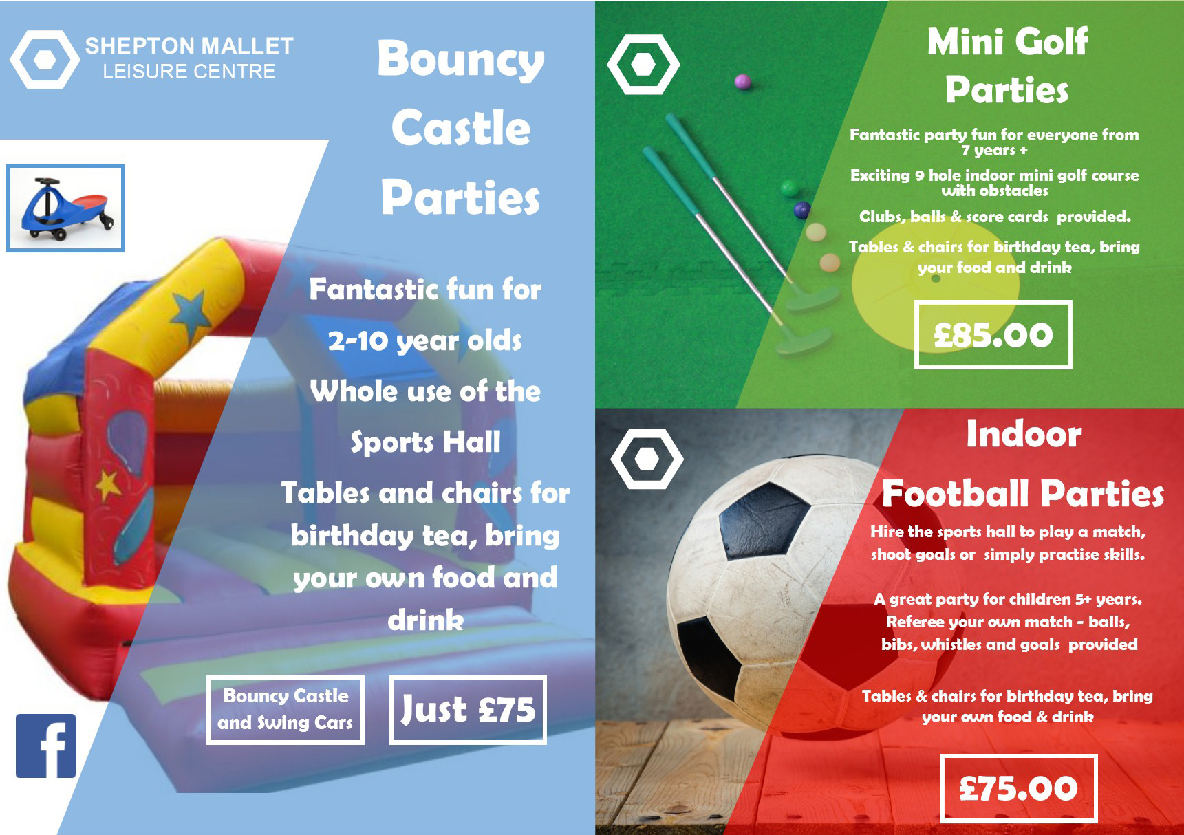 birthday parties shepton mallet leisure centre