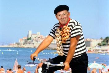 Monk on bike