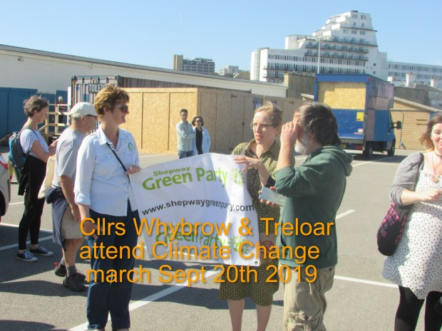 Whybrow & Treloar at Folkestone Climate Emergency March