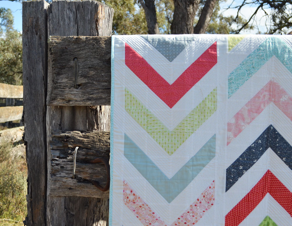 Tutorial - Lickety Split, A Modern Chevron Quilt - She Quilts Alot