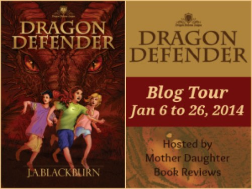 Dragon Defender - Blog Tour Button  J.A. Blackburn