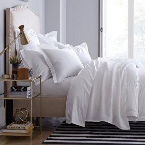 Sheraton 600TC Egyptian Cotton Duvet Cover Set in White