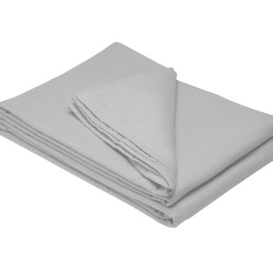 Sheraton 100% Brushed Cotton Winter Flat Sheet - Grey
