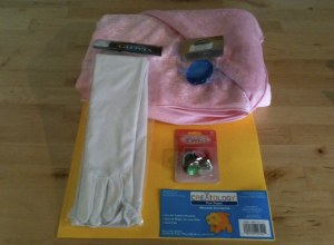 Craft store purchases for Princess Peach costume