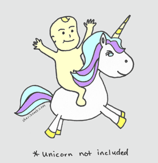 Baby on Unicorn
