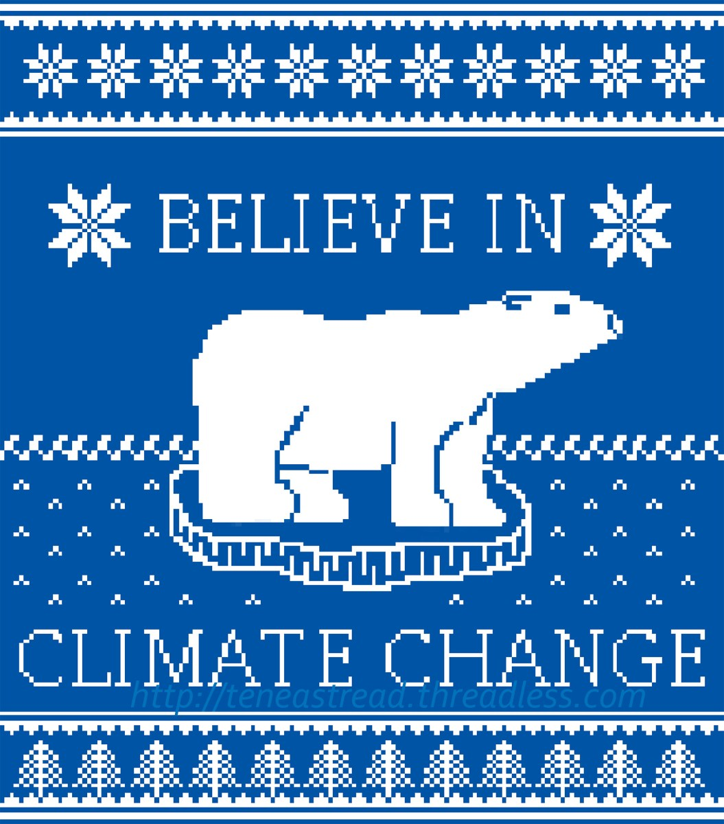 Polar Bears Against Climate Change Ugly Sweater T-Shirt