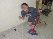 Sister Dunn taking care of the BAT THAT FLEW IN OUR APARTMENT