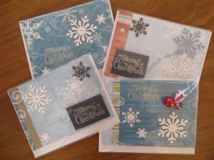 Christmas cards made by author Julie Rowe