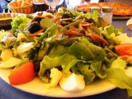 Salad Nicoise at the summit - I earned it!