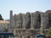 Arles pillar and amphitheatrre