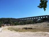 Pont du Gard comes into sight