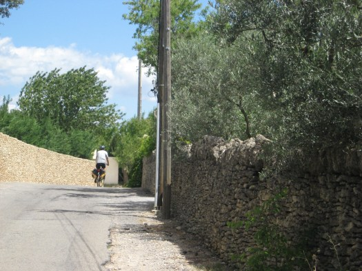 Riding thru Cabrieres after Gordes