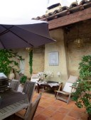 The rooftop terrace, Hotel de Vigniamont