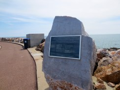 The Memorial to honour those lost in the Airbus A320 crash off Canet Beach, near Perpignan.