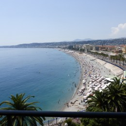 Back in Nice, the view from our room in Hotel Suisse