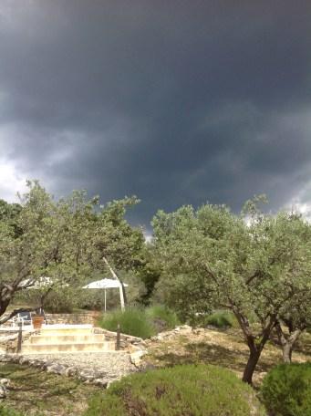 Rain clouds gather!